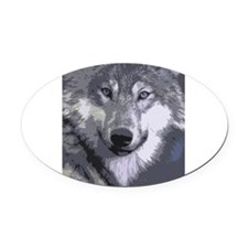 Wolf 050 Oval Car Magnet