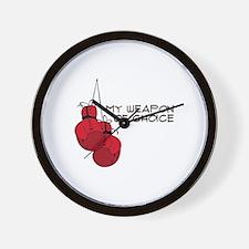 MY WEAPON OF CHOICE Wall Clock