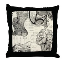 Anatomy Throw Pillow