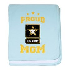 US Army proud Mom baby blanket