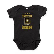 US Army proud Mom Baby Bodysuit