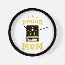 US Army proud Mom Wall Clock
