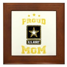 US Army proud Mom Framed Tile