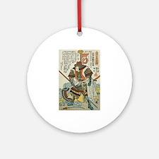 Samurai Kato Samanosuke Yoshiaki Ornament (Round)