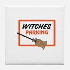Witches Parking Tile Coaster