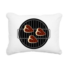 BBQ Grill Rectangular Canvas Pillow