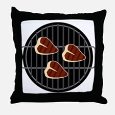 BBQ Grill Throw Pillow