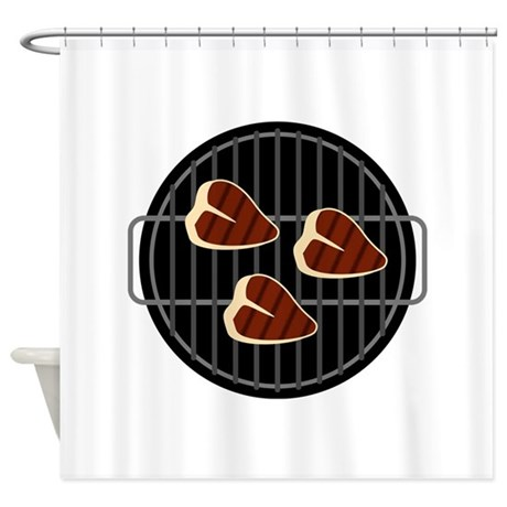 BBQ Grill Shower Curtain
