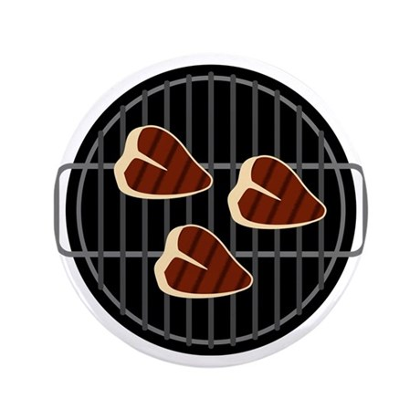 """BBQ Grill 3.5"""" Button"""