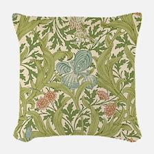 William Morris Iris Woven Throw Pillow
