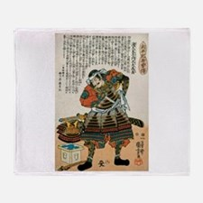 Samurai Asakura Saemonnokami Yoshika Throw Blanket