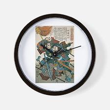 Samurai Fukushima Masanori Wall Clock