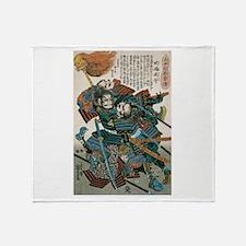 Samurai Fukushima Masanori Throw Blanket