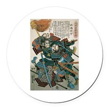 Samurai Fukushima Masanori Round Car Magnet