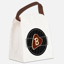 MONOGRAM BBQ Grill Canvas Lunch Bag