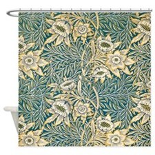 William Morris Tulip and Willow Shower Curtain