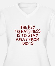 Key Happiness Plus Size T-Shirt