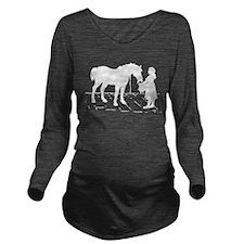 Horse & Girl Long Sleeve Maternity T-Shirt