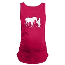 Horse & Girl Maternity Tank Top