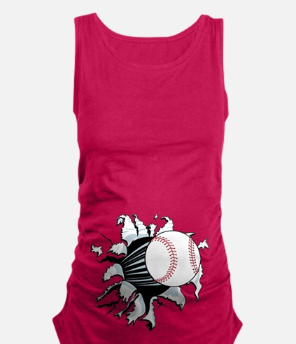 Breakthrough Baseball Maternity Tank Top
