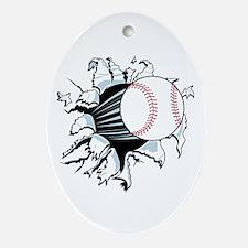 Breakthrough Baseball Ornament (Oval)