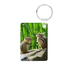 Two Chipmunks Keychains