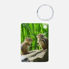 Two Chipmunks Keychains