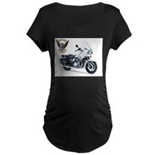 KZ with Police Motor UNits.com Logo Maternity T-Sh