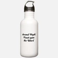 second nephi feast upon the world Water Bottle