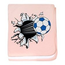 Breakthrough Soccer Ball baby blanket