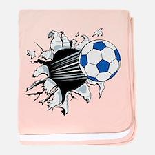 Breakthrough Soccer Ball baby blanket