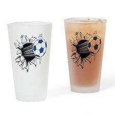 Breakthrough Soccer Ball Drinking Glass
