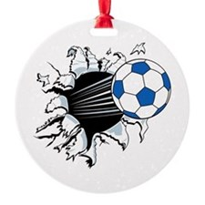 Breakthrough Soccer Ball Ornament
