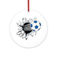 Breakthrough Soccer Ball Ornament (Round)
