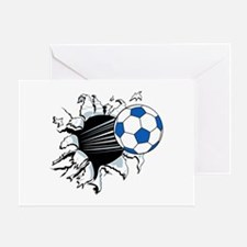 Breakthrough Soccer Ball Greeting Card