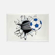 Breakthrough Soccer Ball Rectangle Magnet