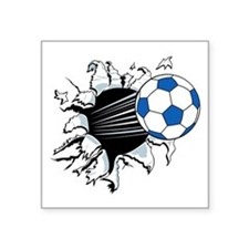 Breakthrough Soccer Ball Square Sticker 3