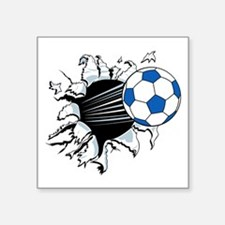 "Breakthrough Soccer Ball Square Sticker 3"" x 3"""