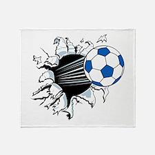 Breakthrough Soccer Ball Throw Blanket