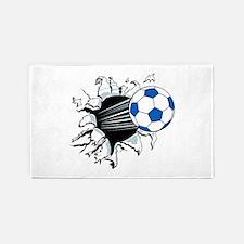 Breakthrough Soccer Ball 3'x5' Area Rug