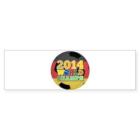 2014 World Champs Ball - Germany Bumper Sticker