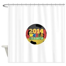 2014 World Champs Ball - Germany Shower Curtain