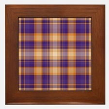 Peanut Butter and Jelly Plaid Framed Tile