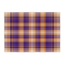 Peanut Butter and Jelly Plaid 5'x7'Area Rug