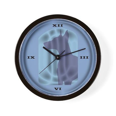 Stained Glass Doberman Pinscher Wall Clock