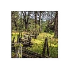 "The Meadow Fence Square Sticker 3"" x 3"""