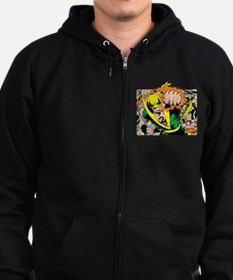 Retro Marvel Iron Fist Zip Hoodie