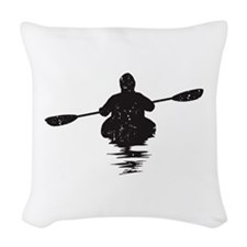 Kayaking Woven Throw Pillow