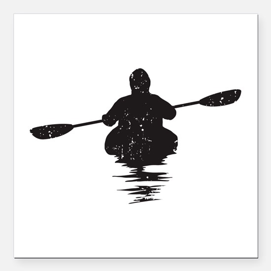 "Kayaking Square Car Magnet 3"" x 3"""