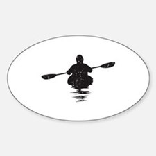 Kayaking Sticker (Oval)